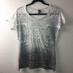 Prana Breath top in white/silver size XL
